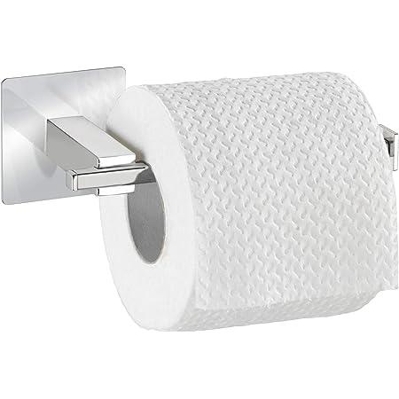 Wenko 23859100 Turbo-Loc Dérouleur de papier WC Quadro, Acier inoxydable, 16,5 x 6,5 x 7 cm, Chromé