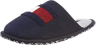 Tommy Hilfiger Terry Flag Homeslipper, Men's Open Back Slippers Open Back Slippers, Blue (MIDNIGHT 403), 7/8 UK (41/42 EU)