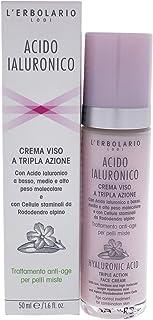 L'Erbolario, Crema Viso Acido Ialuronico per Pelli Miste, Trattamento Normalizzante e Dermopurificante, 50 ml