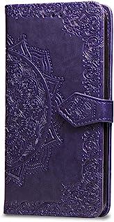 Oihxse Funda con SonyXperia 10, Cuero PU Billetera Cierre Magnético Flip Libro Folio Tapa Carcasa Relieve Soporte Plegable Ranuras para Tarjetas Protección Caso(Purpura)
