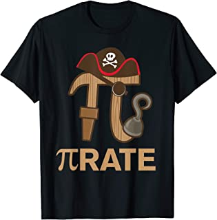 Pirate - Funny Math Geek 3.14 Hat Hook Pi Day Pun T-Shirt