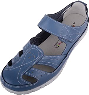 ABSOLUTE FOOTWEAR Womens Leather Causual/Summer/Holiday EEE Wide Fitting Shoes/Sandals
