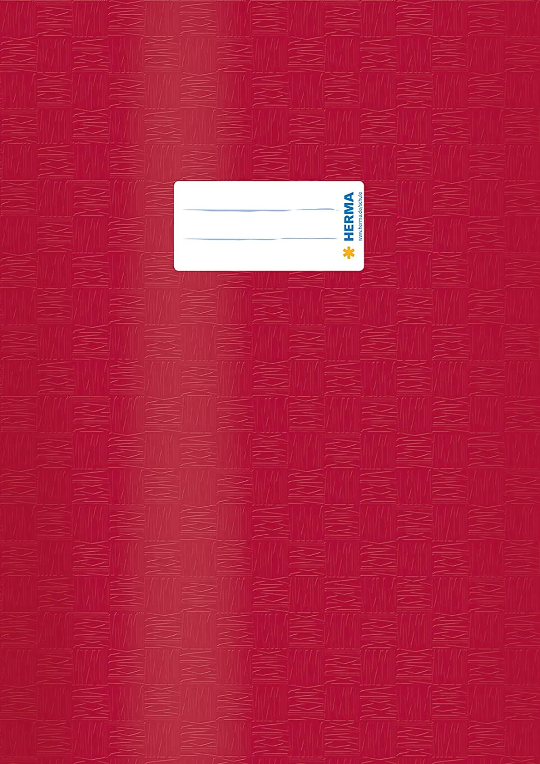 with inscription label pack of 10 HERMA Exercise Book Cover A4 made of wipeable and sturdy plastic slip on cover jackets for school assorted colours 19997