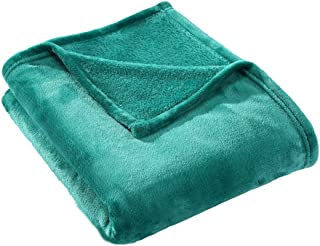 HYSEAS Velvet Throw, Light Weight Plush Luxurious Super Soft and Cozy Fuzzy Anti-Static Throw Blanket for Couch Chair All Seasons, 50x60 Inches, Teal
