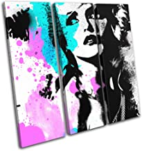 Bold Bloc Design - Blondie Debbie Harry Pop Abstract Musical 60x60cm Treble Canvas Art Print Box Framed Picture Wall Hanging - Hand Made in The UK - Framed and Ready to Hang RC-6401(00B)-TR11-LO-A