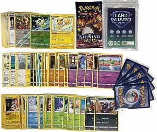 Pok Pokémon 50 Pokémon kaarten zonder dubbele kaarten + 1 willekeurige Pokémon Booster + 2 glanzende cadeaukaarten + 1 zel...