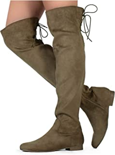 RF ROOM OF FASHION Womens Stretchy Over The Knee Riding Boots
