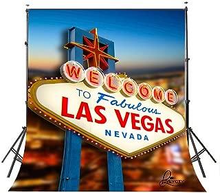 LYLYCTY 5X7 City Backdrop Vegas Backdrop Casino Backdrop Las Vegas Party Decorations Night Vegas Themed Sign BG052