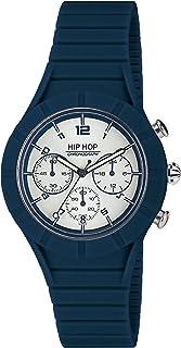 Reloj HIP HOP Hombre X Man Esfera Negro e Correa in silicio Azul, Movimiento Chrono Cuarzo