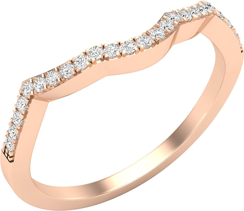 初売り Dazzlingrock 期間限定お試し価格 Collection 0.15 Carat ctw Round White Lad Diamond