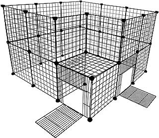 VENTOTA ドア付ペットフェンス バリア ゲート 犬猫 メッシュ プレイサークル3535BK