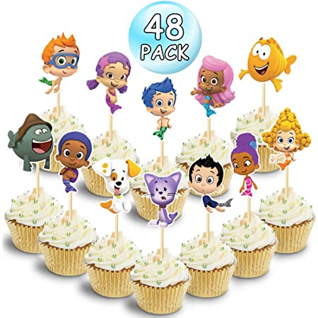 BUBBLE GUPPIES CUPCAKE WRAPPERS /& TOPPERS 24PCS BIRTHDAY PARTY