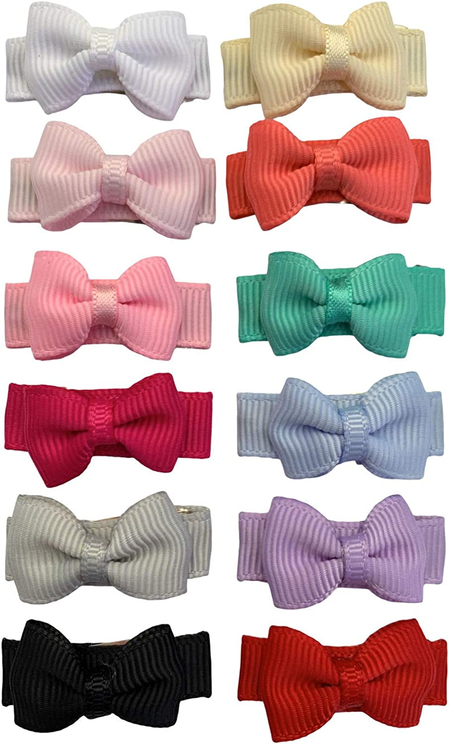 12 Pcs Snap Hair Clips for Hair, Hair Accessories, Newborn Infant Toddler Baby Girls Gifts, Girl, Bows, Barrettes for Girls.
