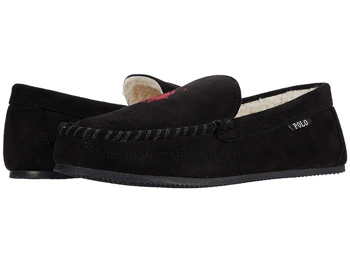 Mens Vintage Shoes, Boots | Retro Shoes & Boots Polo Ralph Lauren Dezi V Black Mens Shoes $44.99 AT vintagedancer.com