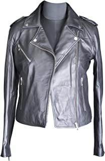SOMINEMI Ladies Leather Jacket, Biker Jacket
