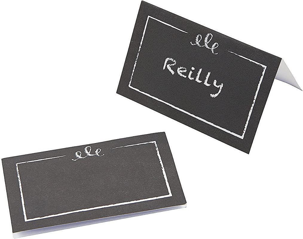 Fun Express Chalkboard Paper Placecards For Wedding Party Supplies Favors Placecards And Holders Wedding 50 Pieces