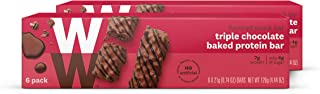 WW Triple Chocolate Baked Protein Bar - High Protein Snack Bar, 3 SmartPoints - 2 Boxes (12 Count Total) - Weight Watchers Reimagined