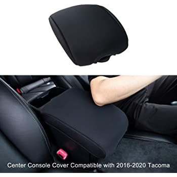 JDMCAR Center Console Armrest Cushion Compatible with Toyota Tacoma Accessories 2021 2020 2019 2018 2017 2016,Customized Neoprene Center Console Protector