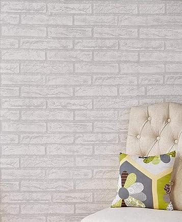 Simply Works 进口即剥即贴瓷砖后挡板   厨房灶或浴室装饰性墙罩   可拆卸易于安装   白色水洗灰色砖卷   覆盖 48 平方米 脚