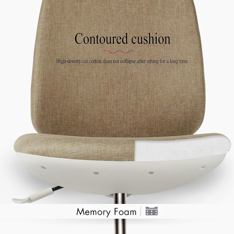 XIAOJIE Chaise de Bureau avec Pieds en Nylon Silencieux avec Dossier Chaise d'ordinateur Ergonomique pour Chaise pivotante de Chambre de Bureau Chaise de Bureau à Dossier Haut Red