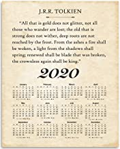 2020 Calendar - J.R.R. Tolkien - All That Is Gold Does Not Glitter - Great Home Calendar Under $15 for Book Lovers