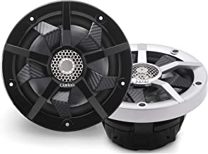 $99 » Clarion CM1623RL 6.5-inch 2-Way Marine Speakers 80W RMS Power handling Built-in RGB Illumination Includes Black & Silver G...
