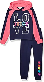 Juicy Couture Girls' 2 Pieces Hooded Pullover Pants Set