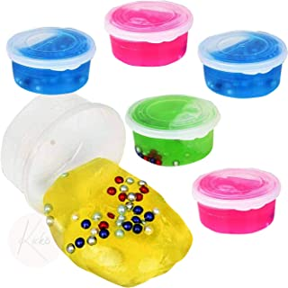 Kicko Pearl Bead Putty - 6 Pack Assorted Colored Putty with Beads - Educational Fidget Toy Ideal for Relaxation and Sensor...