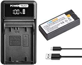 PowerTrust 1400mAh 3.6V NP-FC11 NP-FC10 Battery and LED USB Charger for Sony DSC-P2, DSC-P3, DSC-P5, DSC-P7, DSC-P8, DSC-P9, DSC-P10, DSC-V1 Cameras