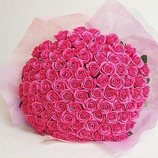 お好きな本数 ソープフラワー花束 ピンク(a) 108本 ピンクのバラの花束 ブーケ 誕生日 記念日 告白 プロポーズ 結婚 お祝い シャボンフラワー 造花