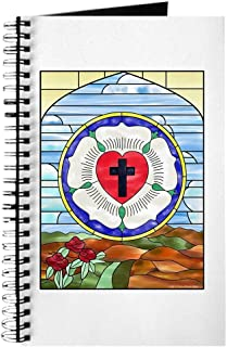 CafePress Luther Seal Stained Glass Window Journal Spiral Bound Journal Notebook, Personal Diary, Lined