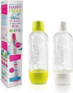 Happy Frizz Special Pack - 2 Bottiglie e bombola addzionale di CO2 (Accessori compatibili con Altri gasatori)