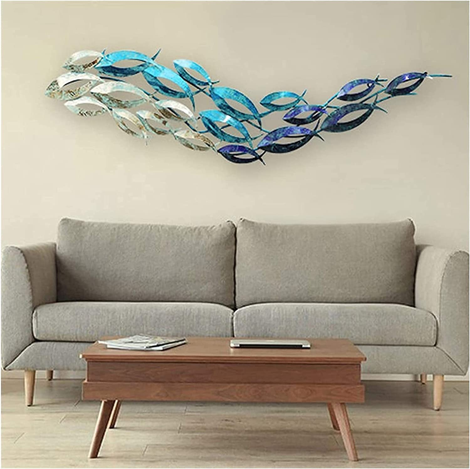 Ranking TOP17 Wall Decorations 3D Metal Hanging Home Decor W Fishes Ocean Bombing free shipping