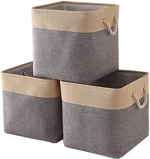 A-Generic Lot de 3 boîtes, Panier de Placard, Panier de Rangement, Jeu de Panier de tir 33 x 33 x 33 cm pour étagère de Pl...