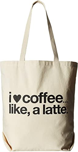 I (Heart) Coffee Like A Latte Tote