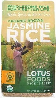 Lotus Foods, Rice Jasmine Brown Organic, 30 Ounce