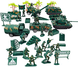 Army toys and tank and helicopter