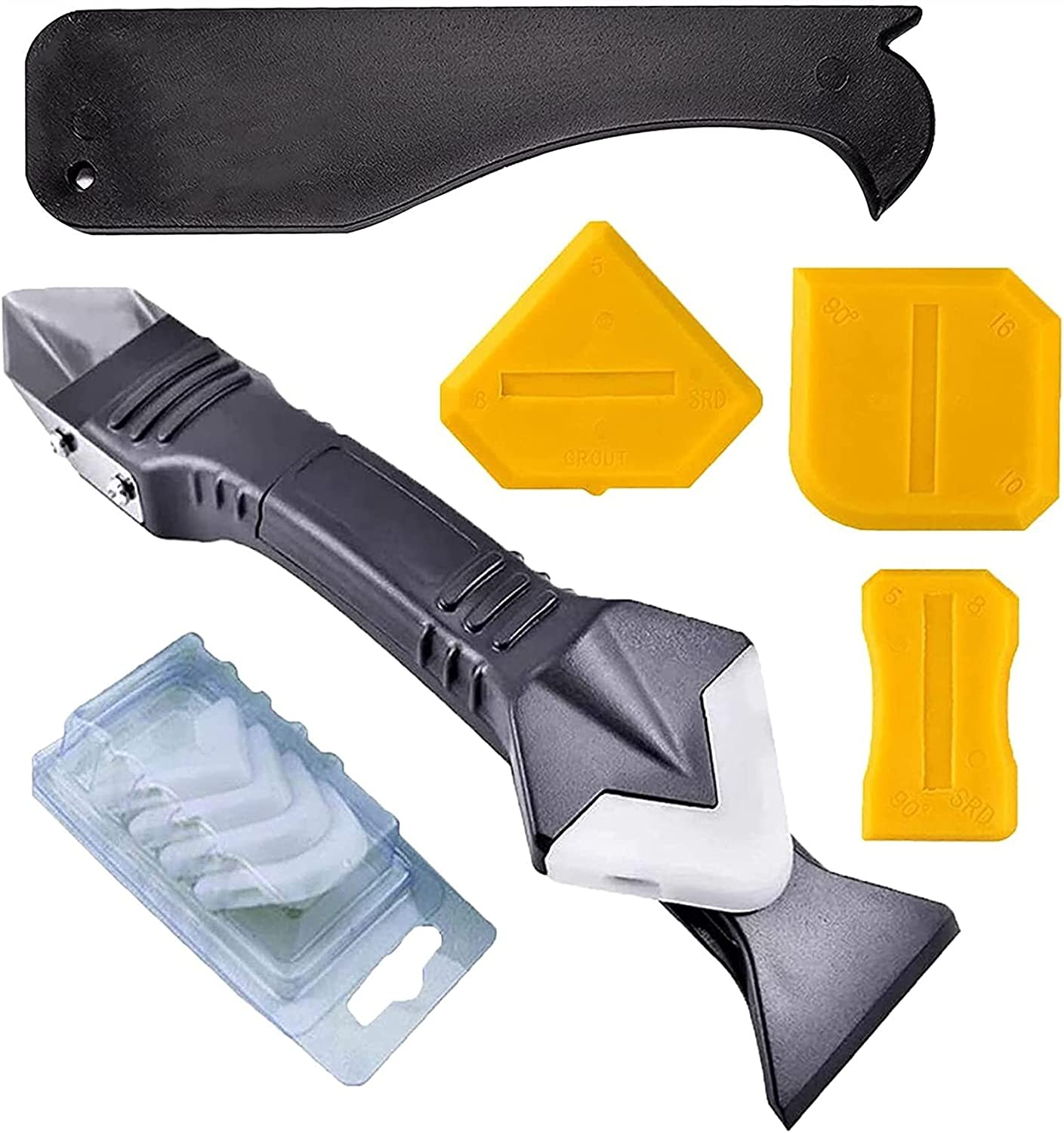 3 In 1 Caulking Tools With Grout Stainless Steel 5 Max Year-end annual account 58% OFF Scraper Head