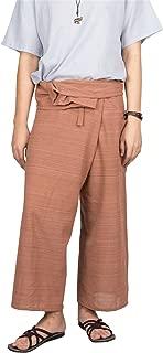 Lofbaz Men's Solid Cotton Fold Waist Fisherman Pants