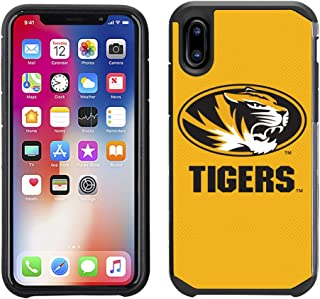 Prime Brands Group Textured Team Color Cell Phone Case for Apple iPhone X - NCAA Licensed University of Missouri Tigers