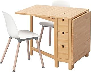 Zigzag Trading Ltd IKEA Norden/LEIFARNE - Mesa y 2 sillas de Abedul/Blanco