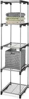 Whitmor 5 Tier Shelf Tower - Closet Storage Organizer (Renewed)