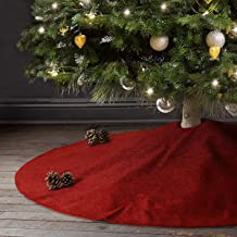 Best solid red christmas tree skirt Reviews