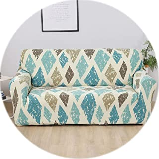 New face 24 Colors Sofa Cover Spandex copridivano Sofa Covers for Living Room Printing Couch Cover funda Sofa slipcovers Single/loverseat,Color 9,3-Seater(195-230cm)