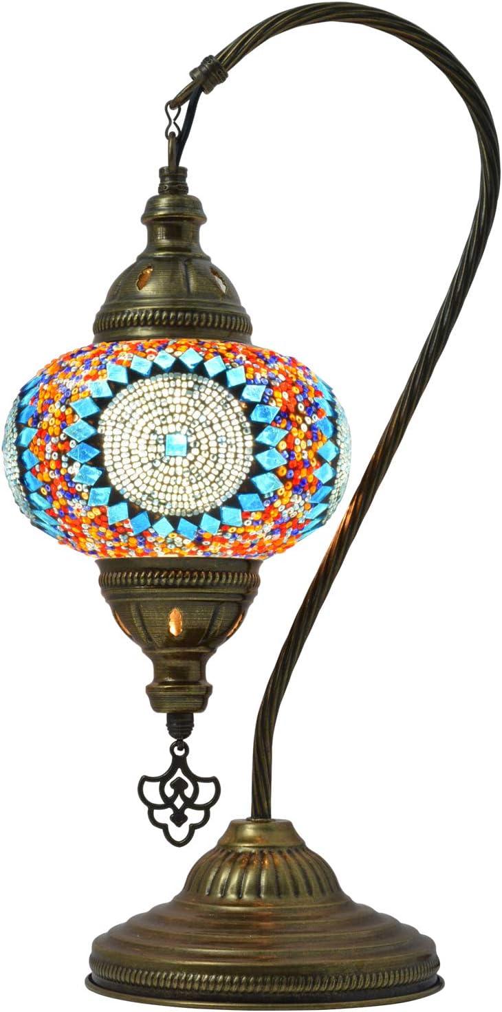 MOZAIST Turkish Lamp Swan Neck Ranking TOP3 Moroccan Mosaic free shipping Deco Table