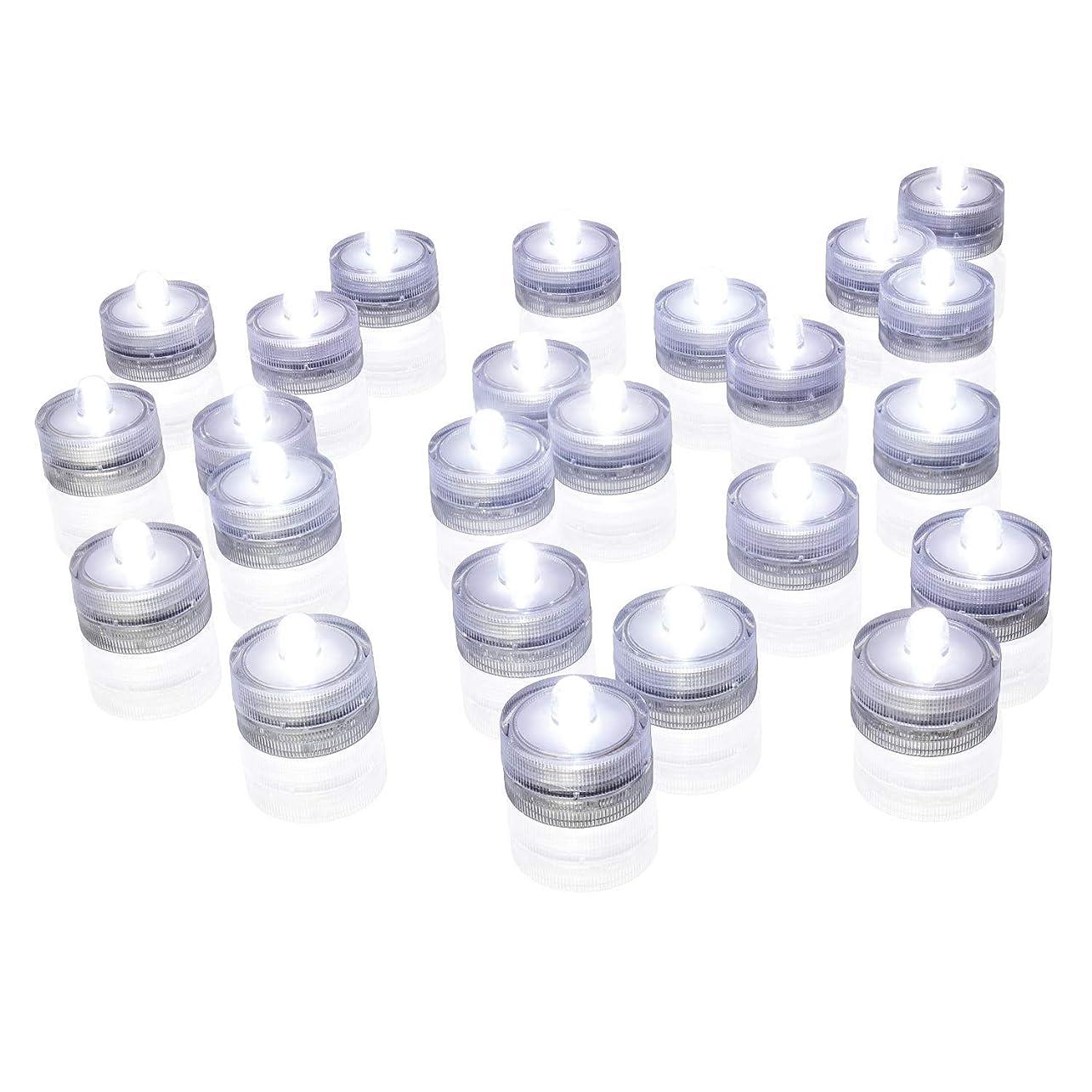 抱擁小麦水差しAlilyol ロウソク型水中LEDランプ 12個セット 防水 水中で点灯 水槽 電池駆動 クリスマスパーティ 結婚式 誕生パーティの装飾-クールホワイト