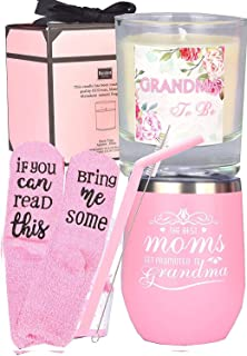 Baby Reveal Gift for Grandmother to be, Pregnancy Announcement Gift For Mom, Grandma to be Gifts, Perfect for Grandma To B...