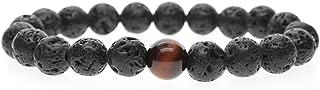 COAI 10mm Lava Tiger Eye Beads Bracelet