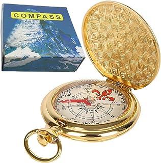 ydfagak Bussola Premium Pocket Watch Portatile Flip-Open Bussola Campeggio Escursionismo Strumenti di Navigazione Esterna ...