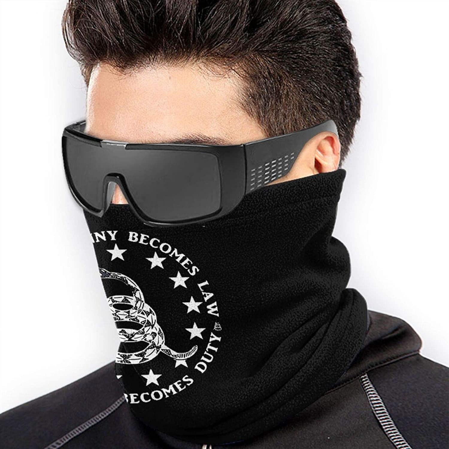 OHUESXJK When Tyranny Becomes Law Rebellion Becomes Duty Mens Neck Warmer Scarf Cool Sports Autum